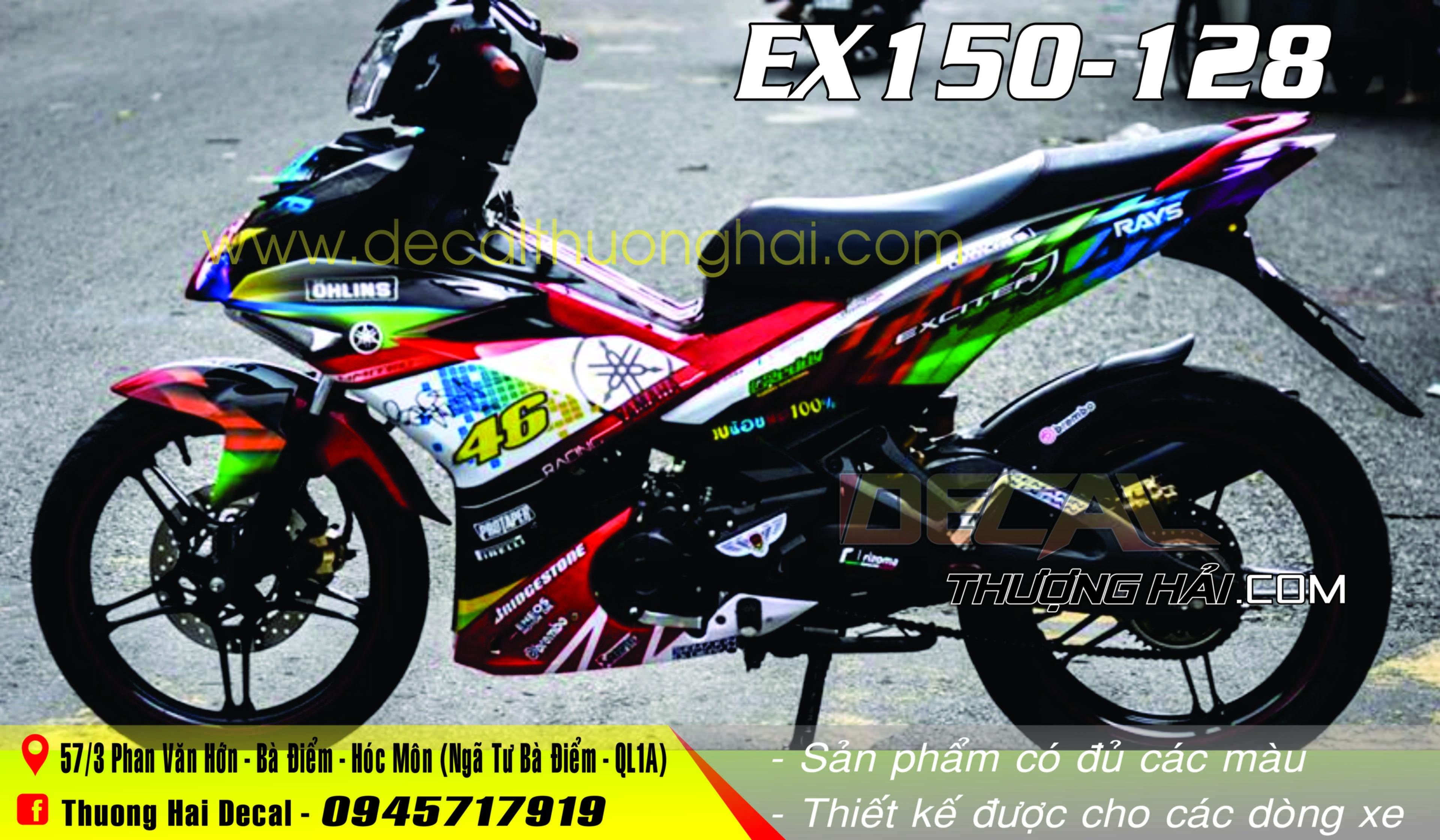 Tem Xe Yamaha Exciter 150 Phối 7 Màu - 128