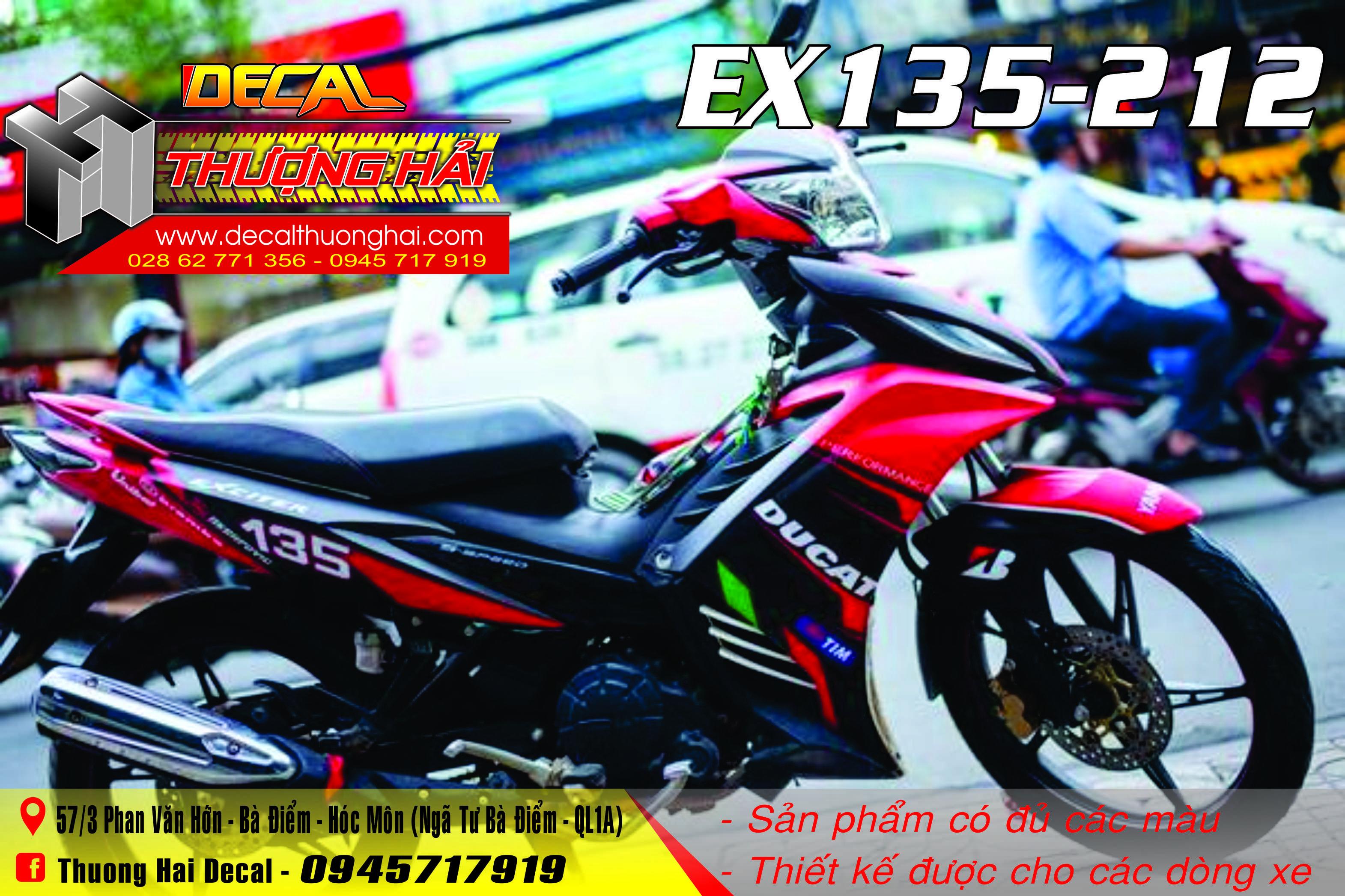 Tem Trùm Exciter 135 Đỏ Đen Ducati - 212