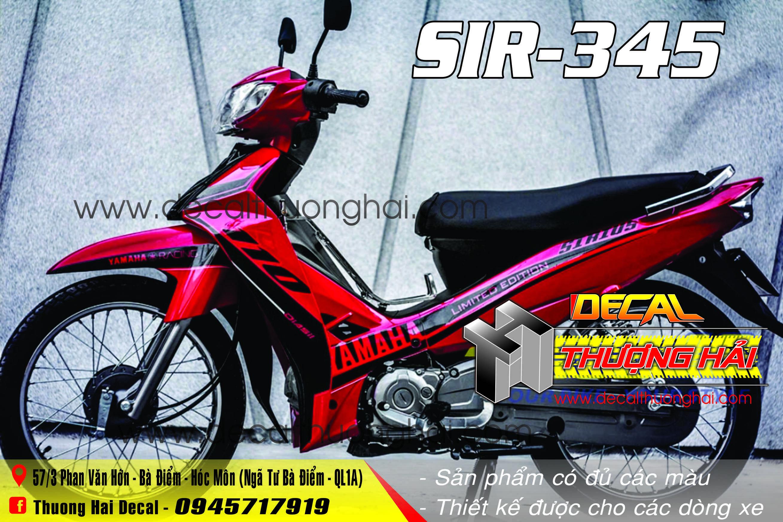 Tem Xe Yamaha Sirius Đỏ Đen - 345