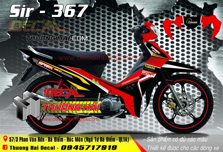 Tem Xe Yamaha Sirius Spark Đỏ Đen - 367