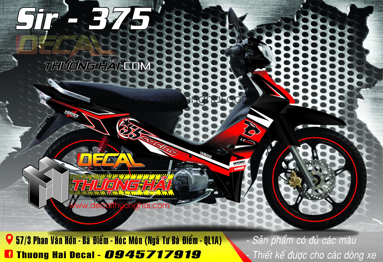 Tem Xe Yamaha Sirius Racing Đỏ Đen - 375