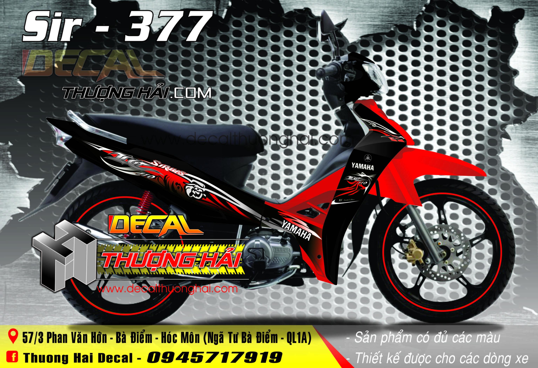 Tem Xe Yamaha Sirius 110 Đỏ Đen - 377