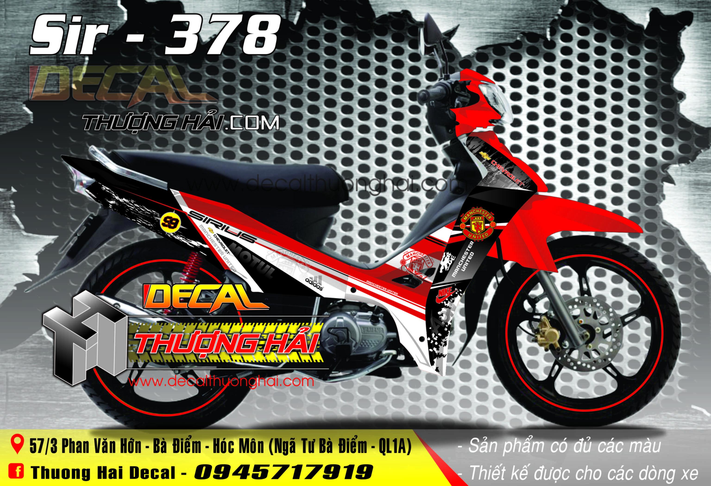 TTem Xe Yamaha Sirius MU Đỏ Đen - 378