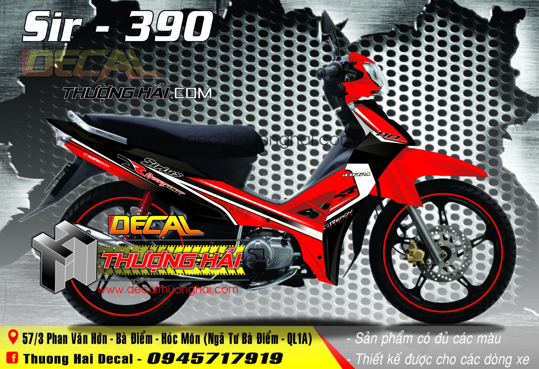 Tem Xe Yamaha Sirius Đỏ Đen - 390