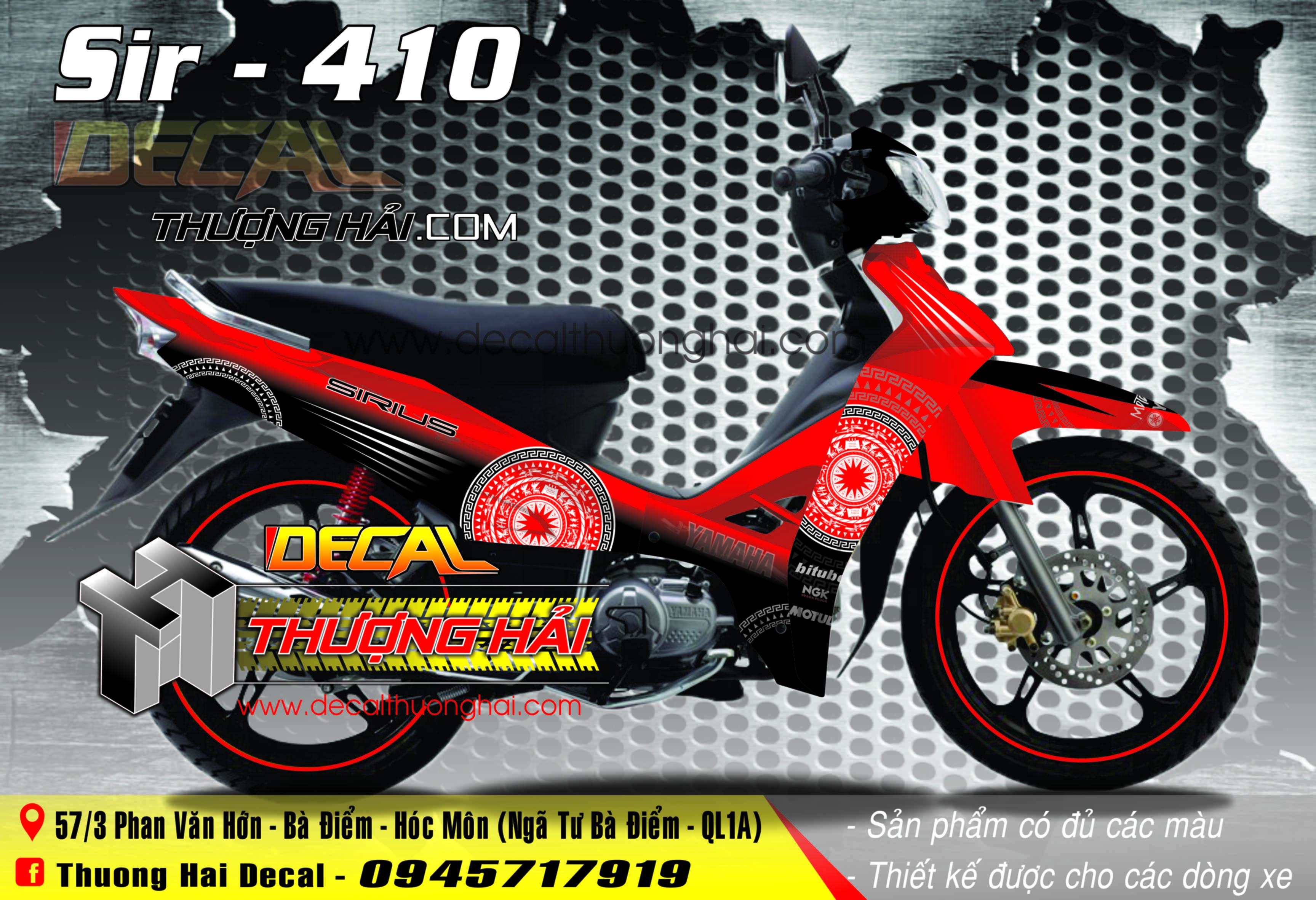 Tem Xe Yamaha Sirius Đỏ Đen - 410