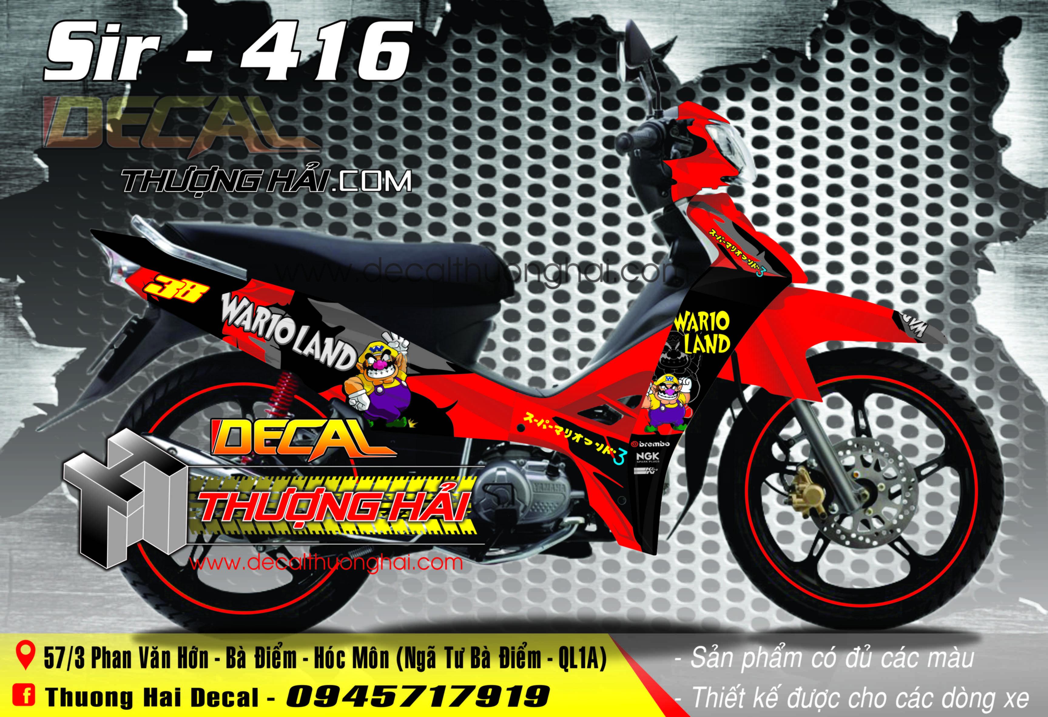 Tem Xe Yamaha Sirius Đỏ Đen - 416