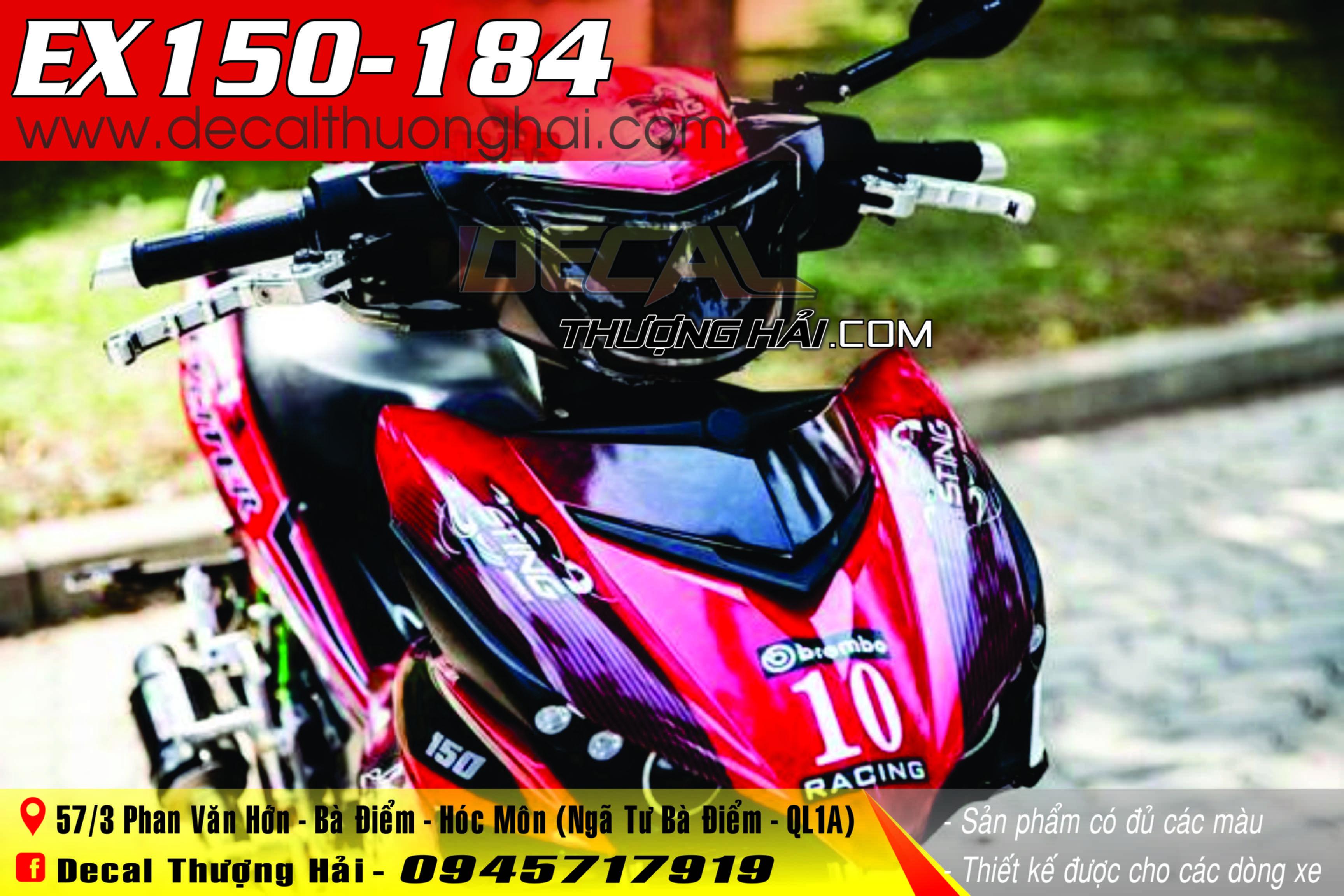 Tem Xe Exciter 150 Đỏ Đen - 184