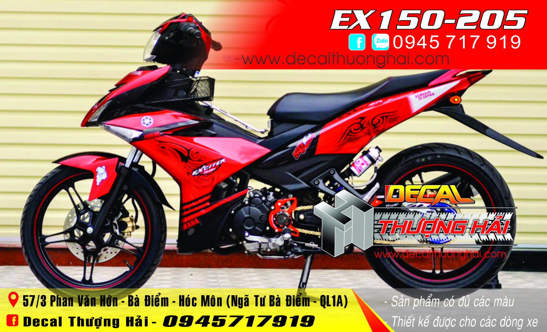 Tem Xe Exciter 150 Đỏ Trắng - 205