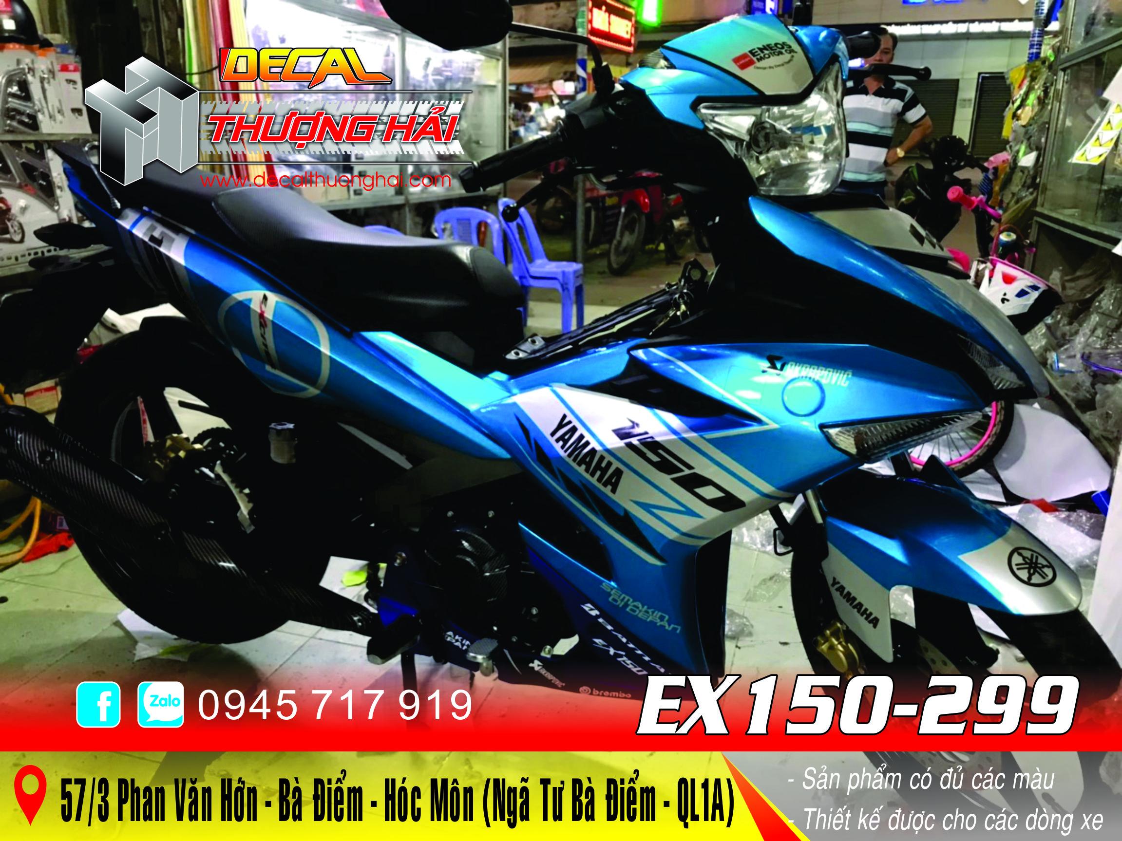 Tem Trùm Exciter 150 Xanh Bạc - 299