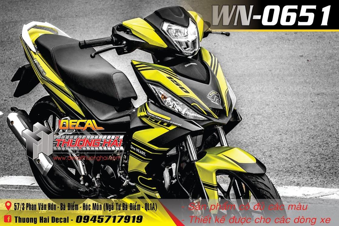 Mẫu Tem Xe Winner 150 vàng đen - 0651
